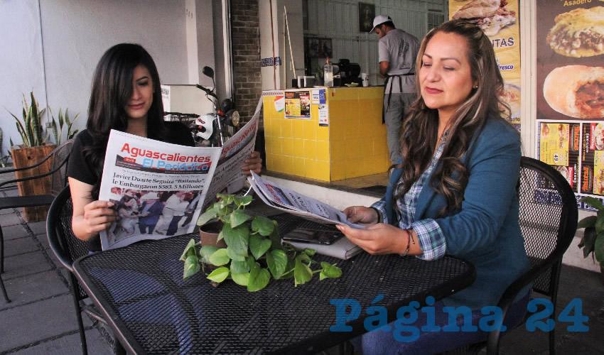 En el restaurante las Pikaditas desayunaron Teresa Nava y Olga Hernández