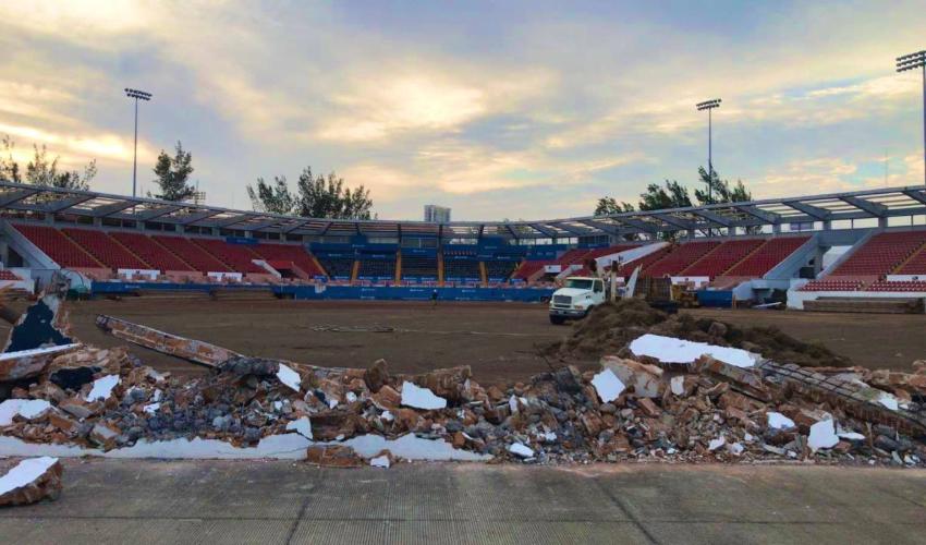 El estadio Beto Ávila (Foto: Twitter @elaguilabeisbol)