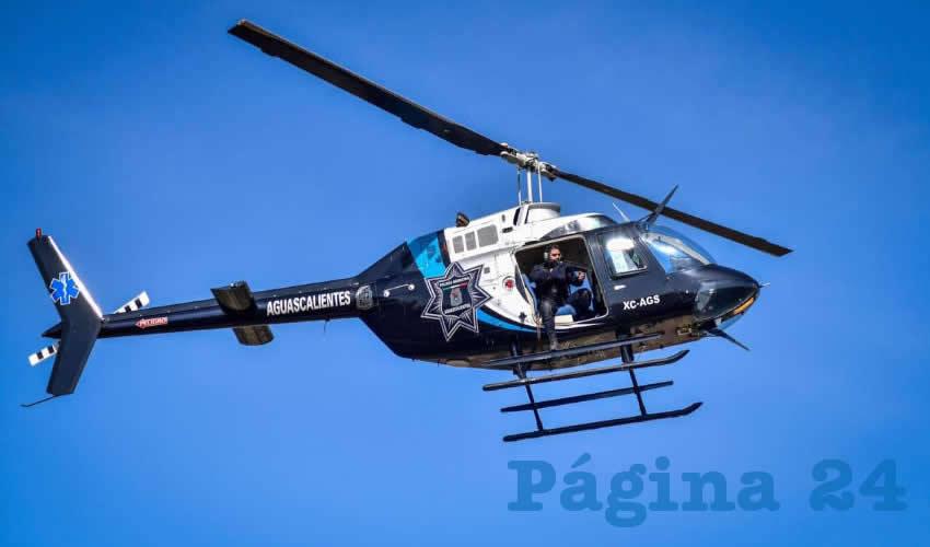 El Helicóptero Halcón 1 de la Policía  Municipal, al Servicio de la Ciudadanía