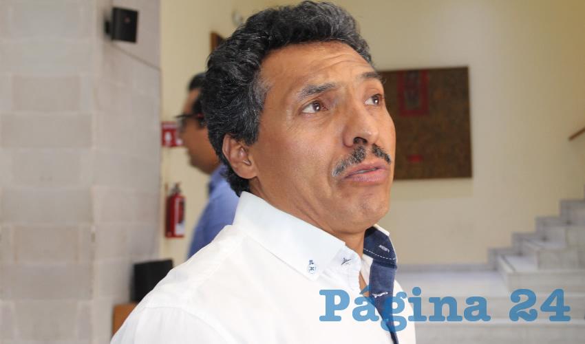 Marcelino Rodarte Hernández, integrante del Movimiento de Bases en Defensa del Instituto de Servicios y Seguridad Social de los Trabajadores del Estado de Zacatecas (Issstezac) (Foto Archivo Página 24)