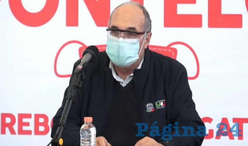 Gilberto Breña Cantú, titular de la Secretaría de Salud de Zacatecas (SSZ) (Foto: Cortesía)