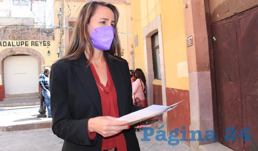 Azucena Acevedo Villareal, aspirante a la dirigencia del Sindicato Único de Trabajadores al Servicio del Estado, Municipios y Organismos Paraestatales (SUTSEMOP) (Foto: Rocío Castro)