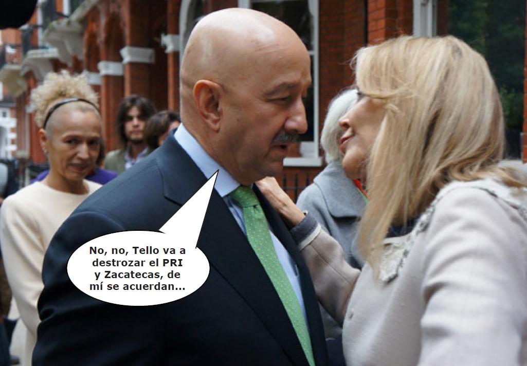 Fotografía satírica con dialogos añadidos a la imagen original.