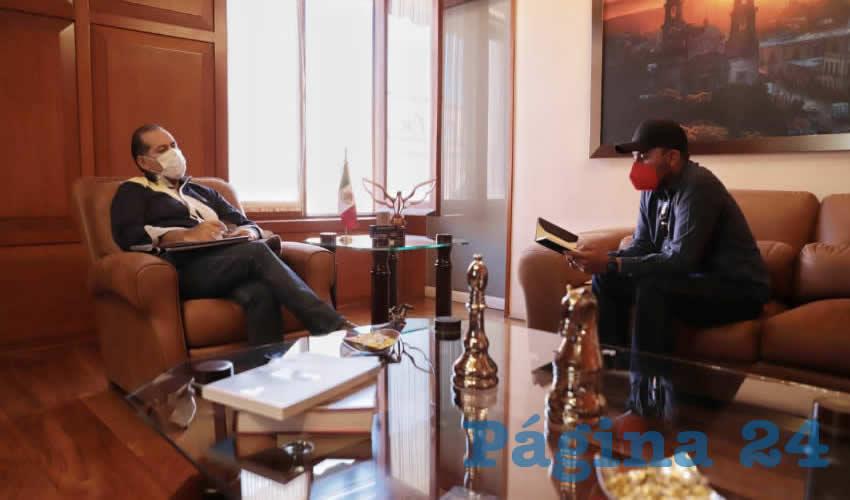 Se Reúne Martín Orozco Sandoval con  el Presidente de Charros en la Entidad