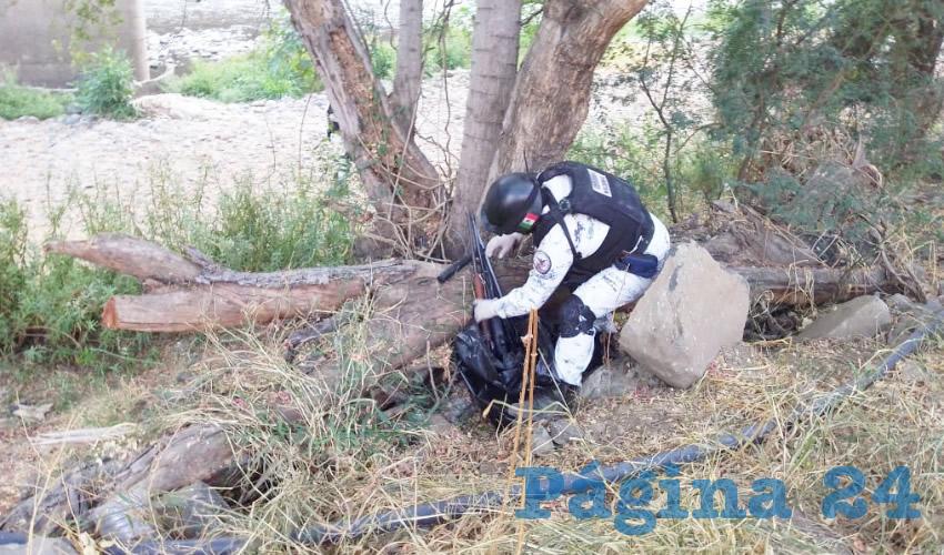 Incautan armas y cartuchos en Quitupán