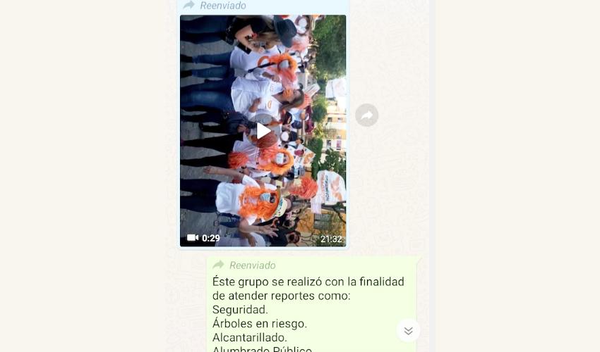 Permiten propaganda de MC en WhatsApp de grupo de la ciudad