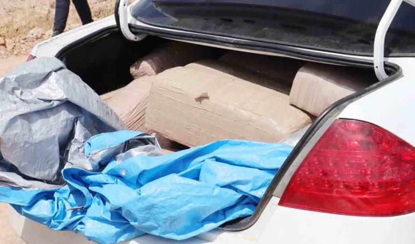 Narco Abandona 115 Kilos de Mariguana