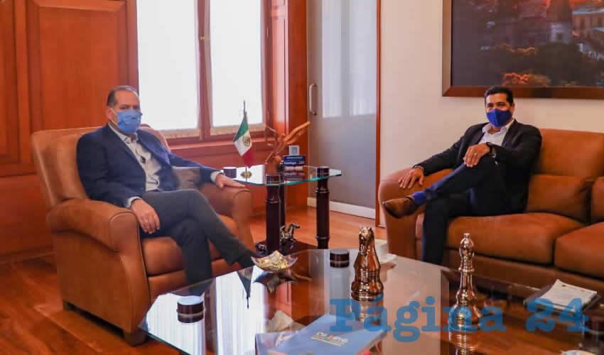 Se Reúne Gobernador Martín Orozco  con Alcalde Electo de Aguascalientes