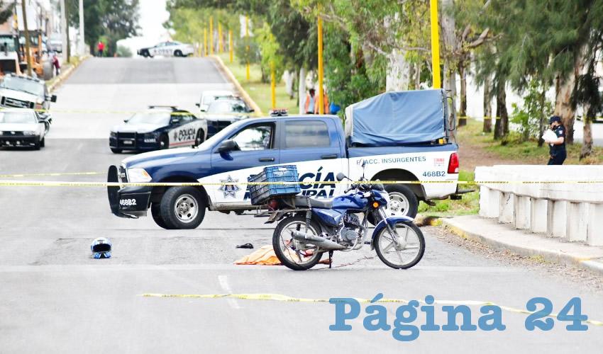 Fallece Motociclista en Accidente