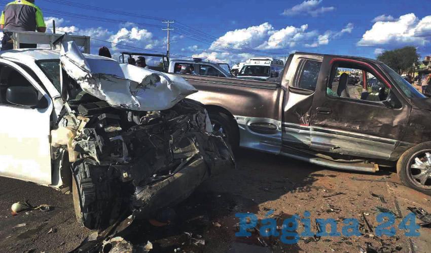 Choque en Villa Juárez: Ocho Heridos